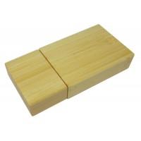 Bambusowy bendrive w kształcie prostokąta