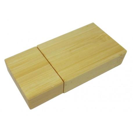Bambusowy bendrive w kształcie prostokąta 8GB