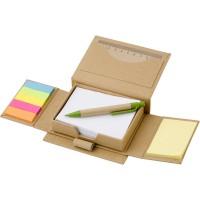 Zestaw biurkowy z karteczkami do notatek, karteczkami memo i długopisem