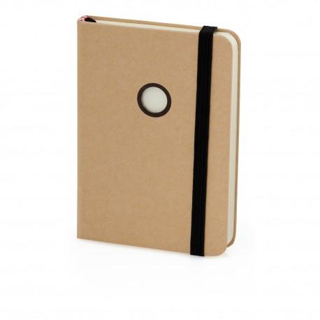Eko notatnik z tasiemką i elastyczną opaską do zamykania
